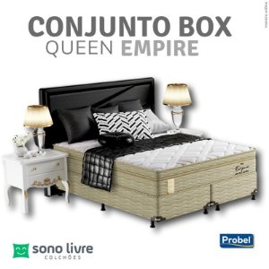 Conjunto Box Queen Probel Empire 158x198x32