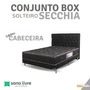 Conjunto Box Solteiro com Cabeceira Secchia Lidermax 88x188x10