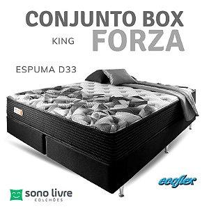 CONJUNTO BOX KING ESPUMA FORZA ECOFLEX 193 X 203
