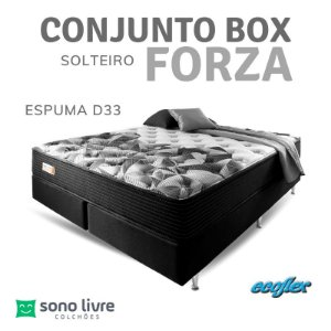 CONJUNTO BOX SOLTEIRO ESPUMA FORZA ECOFLEX 088 X 188