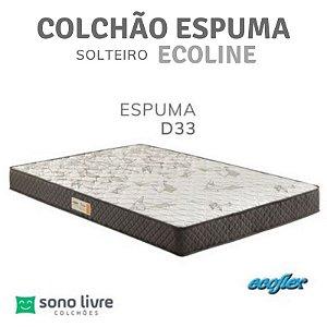 Colchão Solteiro Espuma D33 Ecoline 88x188x25