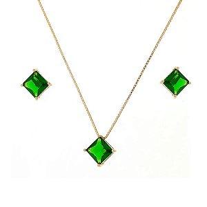 Conjunto Cristal Verde