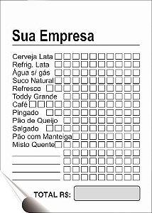 TALÃO 07X10 CM - 1 VIA (Comandas, orçamentos, ordens de serviços, pedidos, recibos, etc)