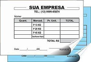 TALÃO 07x10 cm - 2 VIAS (Comandas, orçamentos, ordens de serviços, pedidos, recibos, etc)