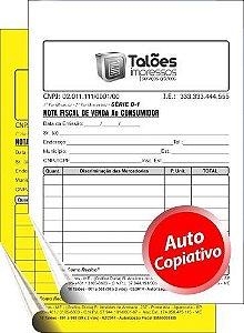 NOTA FISCAL VENDA AO CONSUMIDOR - 2 VIAS (Papel Autocopiativo)