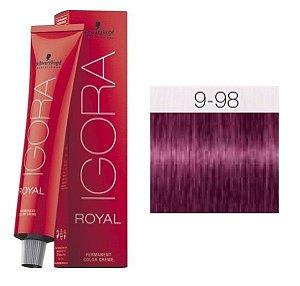 Coloração Igora 9-98 Louro Extra Claro Vermelho Violeta