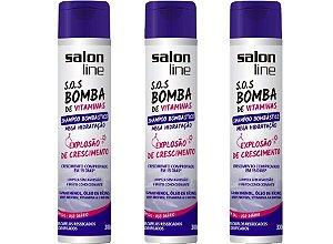 Kit 3 unidades Shampoo Bombástico Mega Hidratação 300 ml