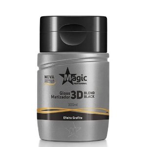 Mini Magic Color Profissional Gloss 3D Blond Black 100ml