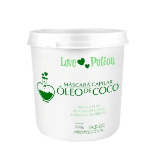 Óleo de Coco Love Potion Cosmetic Máscara de Hidratação 250g