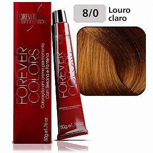 Coloração Forever Colors - Natural 8-0 Louro Claro