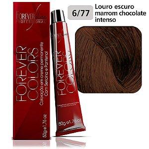 Coloração Marrom 6-77 Louro Escuro Marrom Chocolate Intenso