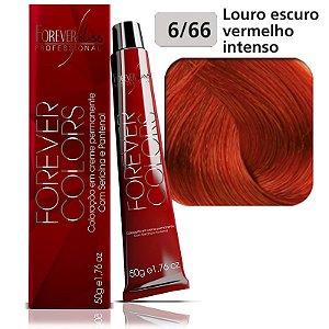 Coloração ForeverColors - Vermelho Intenso 6-66 Louro Escuro