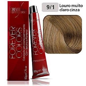 Coloração Forever Colors - Cinza 9-1 Louro Muito Claro Cinza
