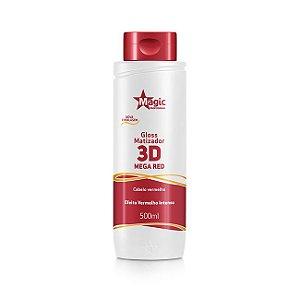 Gloss Matizador 3D Mega Red - Efeito Vermelho - 500ml