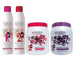Kit Maria Escandalosa + 2 Redutor White + Violet (4 itens)