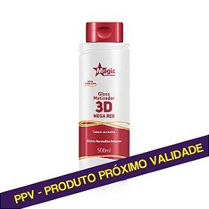 PPV Gloss Matizador 3D Mega Red - Efeito Vermelho Intenso - 500ml