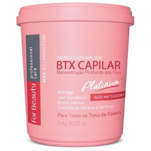 Botox Capilar Max Ilumination Argan Oil Platinum For Beauty 1Kg