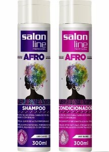 Kit Shampoo + Condicionador Afro Salon Line 300ml