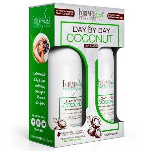 Kit Shampoo e Bálsamo Day By Day Coconut Forever Liss - 2x300ml