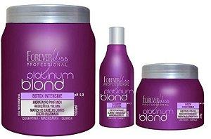 Forever Liss Btx Blond Platinum Kit Matizador (3 itens)