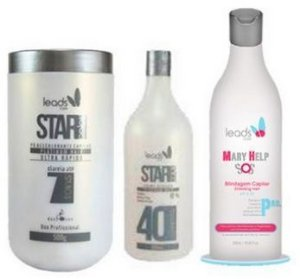 Kit Pó Descolorante 500g, OX 40v 900ml e Mary Help 500ml