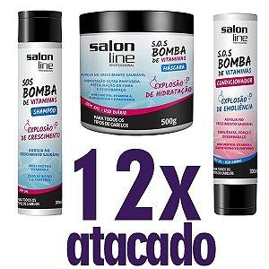 Atacado - Kit Linha Bomba - Shampoo + Codicionador + Máscara