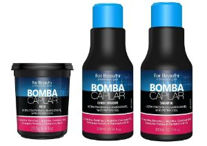 Bomba Capilar For Beauty Kit-shampoo 300+ Cond 300+ Masc 250