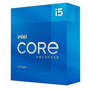 PROCESSADOR INTEL CORE I5 11600K 3.9GHZ (5.0GHZ TURBO), 11ª GERAÇÃO, 6-CORES 12-THREADS, LGA 1200 - BX8070811600K