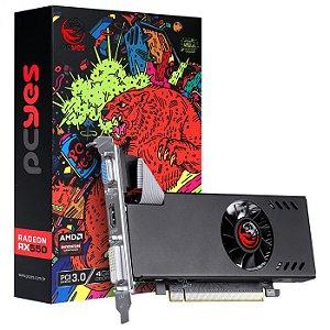 PLACA DE VIDEO AMD RADEON RX 550 4GB GDDR5 128 BITS SINGLE-FAN - GRAFFITI SERIES - PJRX550X4GB