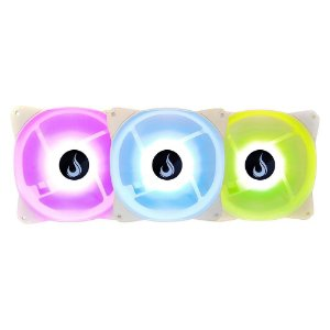 KIT COOLER FAN RISE MODE, 3X120MM, RGB, BRANCO - RM-CF-02-RGB