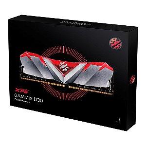 MEMÓRIA XPG GAMMIX D30, 16GB (2X8GB), 3000MHZ, DDR4, VERMELHO - AX4U30008G16A-DR30