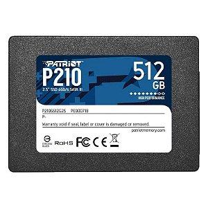 SSD PATRIOT P210 512GB SATA3 - PE000718-P210S512G25