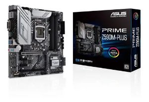 PLACA MÃE ASUS INTEL PRIME Z590M-PLUS 1200 DDR4 4266MHZ - Z590M-PLUS