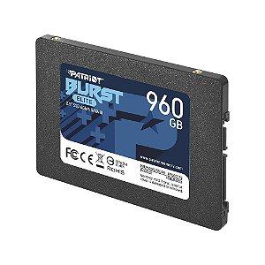 SSD PATRIOT BURST ELITE 960GB, 2.5´, SATA III, LEITURA: 450MB/S E GRAVAÇÃO: 320MB/S - PBE960GS25SSDR