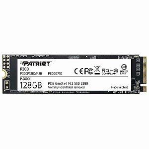 SSD PATRIOT 128GB M.2 P300 NVME PCIE GERAÇÃO 3X4 - P300P128GM28