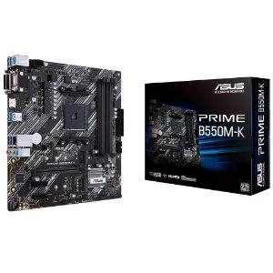 PLACA-MÃE ASUS PRIME B550M-K, AMD AM4, MATX, DDR4 - B550M-K