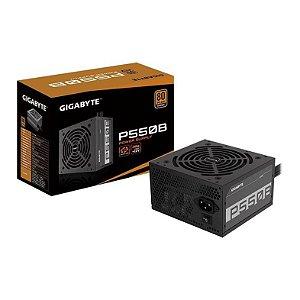 FONTE GIGABYTE P550B 550W 80PLUS BRONZE - GP-P550B