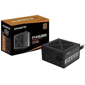 FONTE GIGABYTE 450W, 80 PLUS BRONZE - GP-P450B