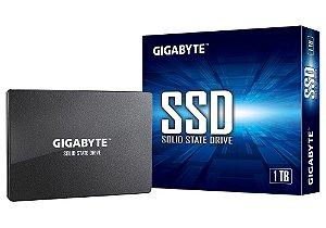 SSD GIGABYTE 1TB SATA, LEITURA ATÉ  550 MB / S, GRAVAÇÃO ATÉ 500 MB / S