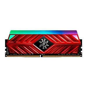 MEMÓRIA ADATA XPG SPECTRIX D41 RGB 16GB (1X16GB) DDR4 3200MHZ VERMELHO - AX4U320016G16A-SR41