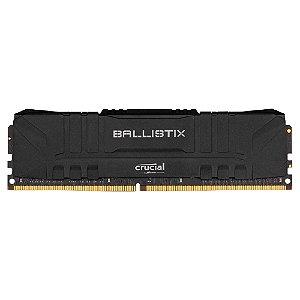 MEMÓRIA CRUCIAL BALLISTIX, 8GB, 3200MHZ, DDR4, CL16, PRETA - BL8G32C16U4B