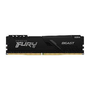 MEMÓRIA KINGSTON FURY BEAST, 4GB, 2666MHZ, DDR4, CL16, PRETO - KF426C16BB/4