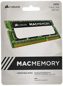 MEMÓRIA CORSAIR MAC MEMORY 4GB 1333MHZ DDR3, CMSA4GX3M1A1333C9