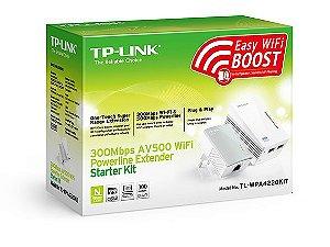 EXTENSOR POWERLINE 300MBPS WIFI e AV 500MBPS TP-LINK TL-WPA4220