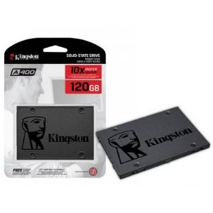 SSD KINGSTON A400 120GB, SATA, LEITURA 500MB/s, GRAVAÇÃO 320MB/s - SA400S37/120G