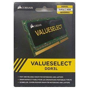 MEMÓRIA 4GB DDR3L 1600MHZ CORSAIR VALUE - NOTEBOOK