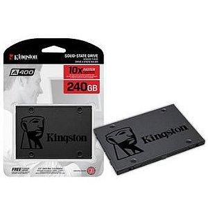 SSD KINGSTON A400 240GB, SATA, LEITURA 500MB/s, GRAVAÇÃO 350MB/s - SA400S37/240G