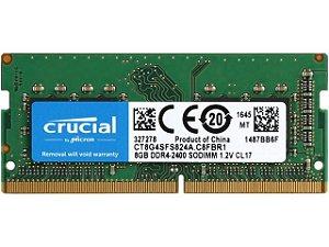MEMÓRIA 8GB DDR4 2666MHZ CRUCIAL - NOTEBOOK