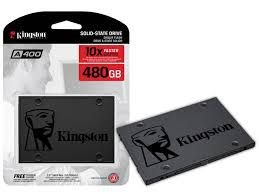 SSD KINGSTON A400 480GB, SATA, LEITURA 500MB/s, GRAVAÇÃO 450MB/s - SA400S37/480G