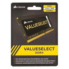 MEMÓRIA CORSAIR VALUESELECT 8GB 2133MHZ, DDR4, NOTEBOOK - CMSO8GX4M1A2133C15